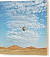 Desert Balloon Wood Print