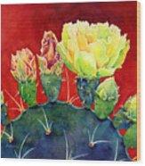 Desert Bloom 3 Wood Print