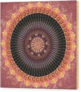 Desert Bloom Mandala Wood Print