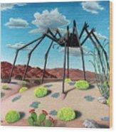 Desert Bug Wood Print by Snake Jagger