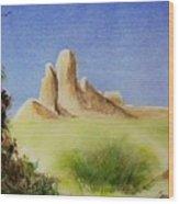 Desert Butte Wood Print