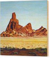 Desert Buttes Wood Print by Evelyne Boynton Grierson