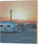 Desert Caravan Wood Print