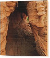 Desert Cavern Wood Print