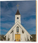 Desert Church Wood Print