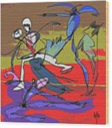 Desert Dance  Wood Print