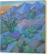 Desert Dawn Wood Print