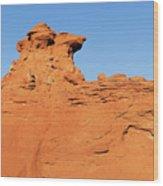 Desert Dog Wood Print
