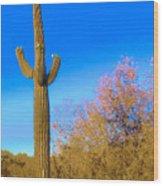 Desert Duo In Bloom Wood Print