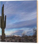 Desert Evening Wood Print