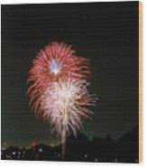 Desert Fireworks Wood Print