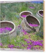 Desert Flowers Wood Print
