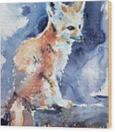 Desert Fox Wood Print