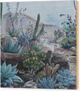 Desert Garden Wood Print