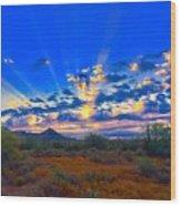 Desert Glory Wood Print