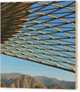 Desert Grid Wood Print