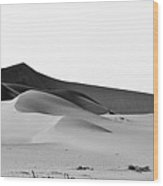 Desert In Shades Of Grey Wood Print