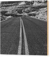 Desert Journey B/w Wood Print