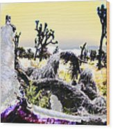 Desert Landscape - Joshua Tree National Monment Wood Print