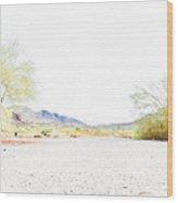 Desert Landscape 001 Wood Print