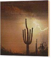 Desert Landscape Southwest Wood Print