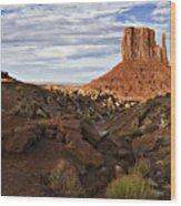 Desert Mitten Wood Print