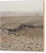 Desert. Morning. Wood Print