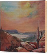 Desert Oasis Wood Print