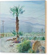 Desert Palm Wood Print