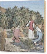 Desert Jesus Wood Print