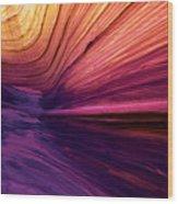 Desert Rainbow Wood Print