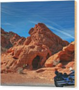 Desert Rider Wood Print by Charles Warren