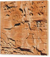 Desert Rock Wood Print