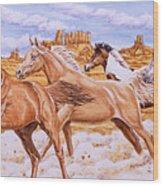 Desert Run Wood Print by Richard De Wolfe