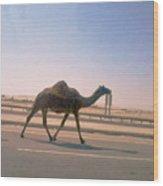 Desert Safari Wood Print