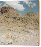 Desert Sand And Rock Wood Print