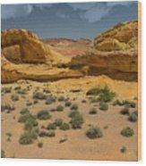 Desert Sandstone Cliffs Valley Of Fire Wood Print