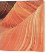 Desert Sandstone Waves Wood Print