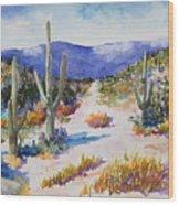 Desert Scene 2 Wood Print
