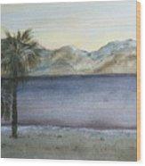 Desert Sea Wood Print