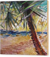 Desert Seashore Wood Print