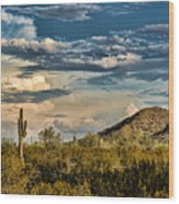 Desert Sky - San Tan Arizona Wood Print