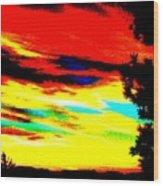 Desert Sky Wood Print