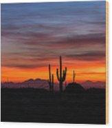 Desert Skyline  Wood Print