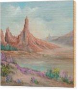Desert Spires Wood Print