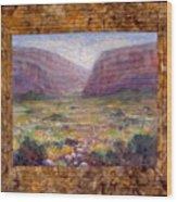 Desert Spring Wood Print