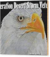 Desert Storm Eagle Wood Print