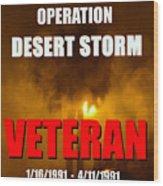 Desert Storm Vet Phone Case Work Wood Print