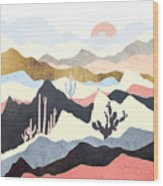 Desert Summer Wood Print