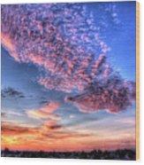 Desert Sunset 2 Wood Print